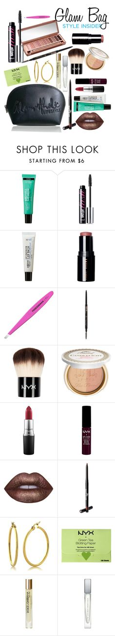 """""""Detroit Glam Bag"""" by marlea-z-wilson on Polyvore featuring beauty, Urban Decay, C.O. Bigelow, Benefit, Bobbi Brown Cosmetics, Tweezerman, Anastasia Beverly Hills, Too Faced Cosmetics, MAC Cosmetics and NYX"""