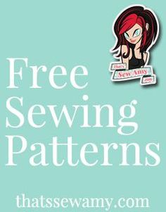 Lots of free sewing patterns. Including: Dresses, Baby, Accessories, Bags, Vests, Coats, Shirts, Skirts and more! - www.thatssewamy.com