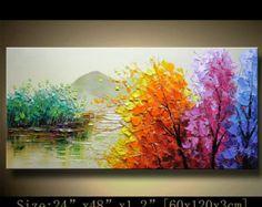 colorido árbol de pared contemporánea arte pintura por xiangwuchen