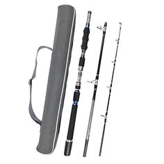 Fiblink 3-Piece Spinning Rod Heavy Spinning Fishing Rod Portable Fishing Rod Graphite Spin Rod (30-50-Pound Test) Outdoor Store [gallery]  Fiblink 3-Piece Spinning Rod Heavy Spinning Fishing Rod Portable Fishing Rod Graphite Spin Rod    Today's modern fishing calls for a special rod, a rod that makes a critical difference in lure presentation and fish-fighting ability. The Fiblink Spinning Boat Rod delivers the bizarre toughness of solid carbon fiber construction and precisely tuned action…