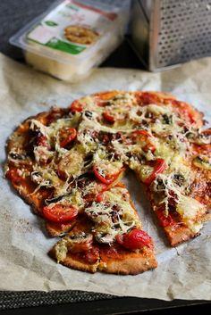 Pizza kikhernepohjalla