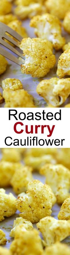 Roasted Curry Cauliflower – healthy roasted cauliflower with butter and curry powder. Takes 10 mins prep time for this amazing side dish Side Dish Recipes, Veggie Recipes, Indian Food Recipes, Low Carb Recipes, Cooking Recipes, Healthy Recipes, Side Dishes, Easy Delicious Recipes, Yummy Food