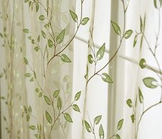 leaf pattern curtains - Google Search