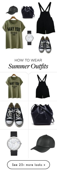 """Summer Camp Outfit 1"" by lynsirhone on Polyvore featuring American Apparel, Converse, Elwood, Lacoste and summercamp"