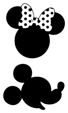 Mickey and Minnie Mouse Wall Decal Set