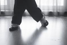 Shoes feet legs male ballroom dance teacher dancer stock photo