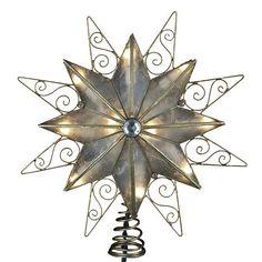 Kurt Adler 9-in. LED Capiz Shell 8-Point Star Christmas Tree Topper #Kohls #holiday #decor
