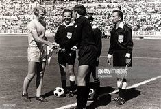 Sport Football 1970 World Cup Finals Guadalajara Mexico June 1970 Group 3 England 1 v Czechoslovakia 0 England captain Bobby Moore greets. 1970 World Cup, Stock Pictures, Stock Photos, Bobby Moore, World Cup Final, Bbc Broadcast, Sport Football, Finals, Mexico