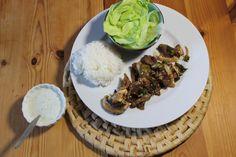 Beef Bulgogi, koreanisch, Fleisch, Marinade, Sesam, Salat
