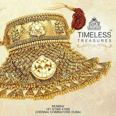 Royal Jewelry, Gold Jewelry, Jewelry Necklaces, Gold Necklace, Indian Bridal Jewelry Sets, Indian Jewelry, Rajput Jewellery, 5 Min Crafts, Necklace Designs