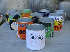 If I ever get a classroom of kids again, THIS is the next Halloween party game! I knew there was something I could make to reuse my empty formula cans!