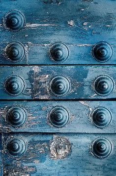 blue door detail