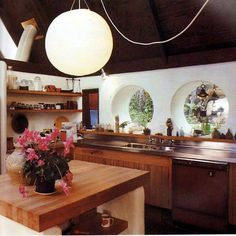 intriguing blended kitchen: retro, modern, japanese, country, frank lloyd wright, etc