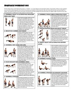 Men's Health Spartacus Workout 2012