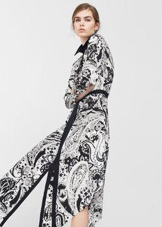 Robe fluide motif cachemire