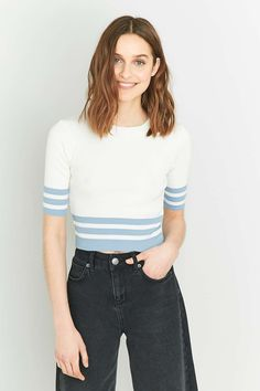 Urban Outfitters Striped Hem Crop Top
