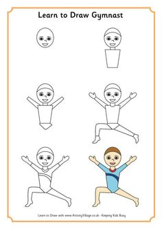 Learn to draw gymnast 1