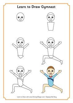 Learn to draw gymnast 1