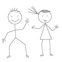 136 best stick people images on pinterest doodles stick figures