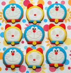 Doraemon & Dorami Cookies by kookielicious, via Flickr