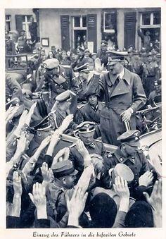 Hitler liberating the Sudetenland. (via putschgirl)