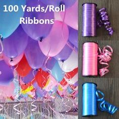 100 Yards/Roll New Year 2018 Wedding Decoration Birthday Gift Ribbon Balloon Rope Wire Ribbon for Party Embossed Balloon Accessories @ VOVA Orange Roses, Red Roses, Green And Purple, Pink And Gold, Neon Party Invitations, Birthday Decorations, Wedding Decorations, Balloon Gift, Balloon Birthday