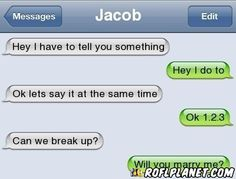 Funny Break Up Texts | Can we breakup? AWKWARD!