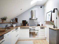 #Attic studio apartment (photography by Jonas Berg for Stadshem) #kitchen