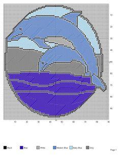 DOLPHINS Cross Stitch Kits, Cross Stitch Charts, Cross Stitch Patterns, Plastic Canvas Crafts, Plastic Canvas Patterns, Picture Banner, Stitch Pictures, Box Patterns, Wale
