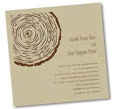 Rustic Knot Wedding Invitation