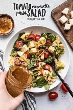 Quick Pasta Recipes, Salad Recipes For Dinner, Potluck Recipes, Healthy Recipes, Pasta Salad Recipes, Vegetarian Recipes, Cooking Recipes, Shrimp Recipes, Pork Recipes