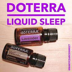 doTERRA Liquid Sleep: Lavender to promote a restful night's sleep and Vetiver to…