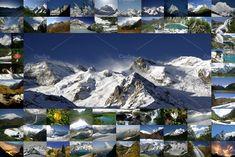 Mountain Landscape, Mount Everest, Banner, Greeting Cards, Mountains, Nature, Travel, Art, Craft Art
