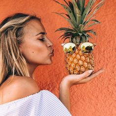 Pina-cool-Ada @jannid #pineapple #sunnies #cute by bikiniluxe
