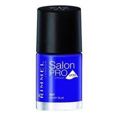 Rimmel Salon Pro with Lycra Nail Polish Barmy Blue 0.4 Fluid Ounce