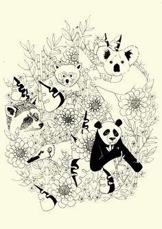 Plakat bjørne. LS illustrationer