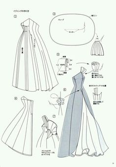 Evening dress pattern