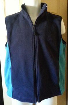 Blue Fleece Vest  Large  Zipper Pockets Eagle Canyon New with Tags #EagleCanyon