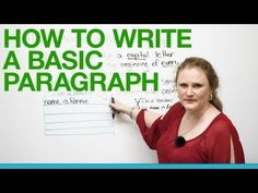 I like this woman. She simplifies things in a way that is perfect for middle school. (I believe she teaches ESL.) -- How to write a basic paragraph - YouTube