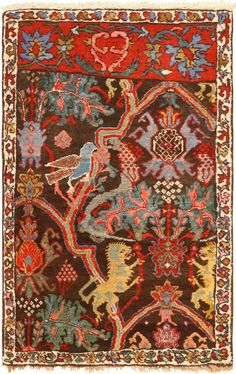 View this beautiful antique Persian Bidjar rug from Nazmiyal Collection in New York City.