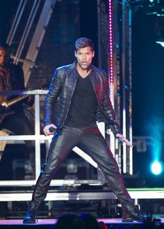 Ricky Martin performs on stage at Palacio de los Deportes on June 28, 2011 in Madrid, Spain.