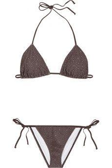 Chloé Broderie anglaise laser-cut triangle bikini NET-A-PORTER.COM - StyleSays