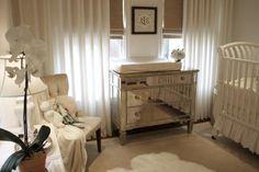 Suzie: House of Wentworth - Beautiful white gender neutral nursery design with white crib, ...
