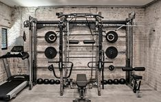 Custom Apex Rack by Sorinex Home Gym Basement, Home Gym Garage, Gym Room At Home, Diy Garage, Home Made Gym, Diy Home Gym, Exposed Basement Ceiling, Gym Setup, Sports Man Cave