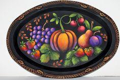 Folk Art Fruit Tray 189