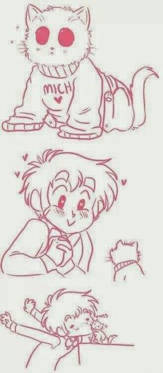 Oliver~ He is soooo cute ^///^ And look at the kitty. Meow moe~ <3 <3