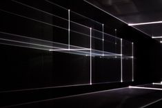 Vanishing Point - Berlin 2013 - United Visual Artists. RGB Laser, Black Voile, Code 6m x 3m x15m
