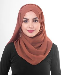 Chiffon Hijab Scarf Shawl Headcover in Rustic Brown Color Modest Pants, Modest Dresses, Modest Outfits, Modest Clothing, Muslim Fashion, Modest Fashion, Hijab Fashion, Women's Fashion, Fashion Trends