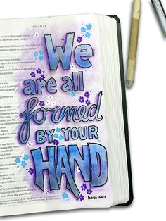 Bible Journaling by Neil Burley Inspirational Bible Quotes, Bible Verses Quotes, Bible Scriptures, Bible Drawing, Bible Doodling, Bible Study Notebook, Bible Study Journal, Isaiah Bible, Quotes Arabic
