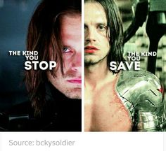 ''The kind you STOP. ~ The kind you SAVE.'' / The Winter Soldier : Bucky Barnes